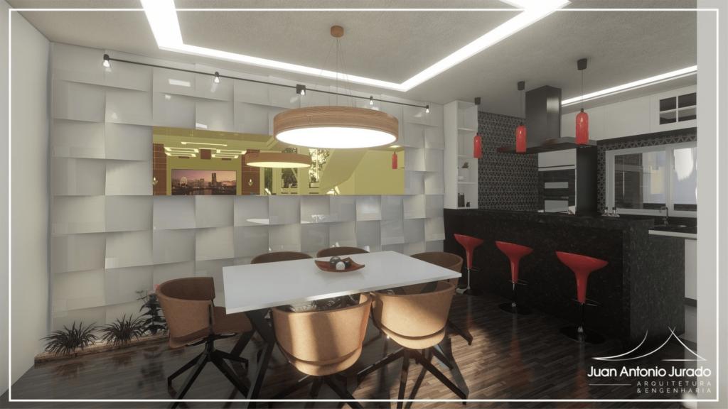 Sala Jantar - Painel 3D